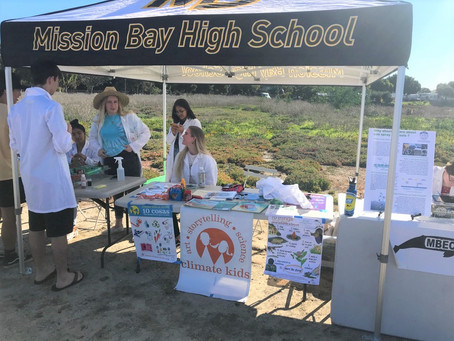 Mission Bay High School Climate Kids Ambassadors Connect with Community at Love Your Wetlands Day
