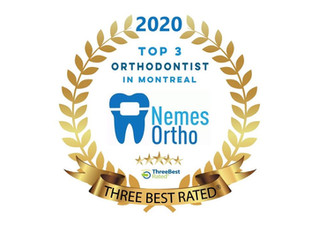 Dr. Jordan Nemes rated one of the TOP 3 best orthodontists in Montreal