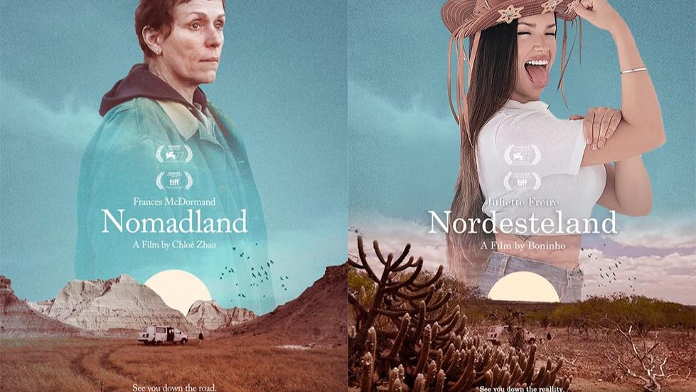 Publicitário de Brasília recria cartazes dos filmes do Oscar 2021 com participantes do BBB21