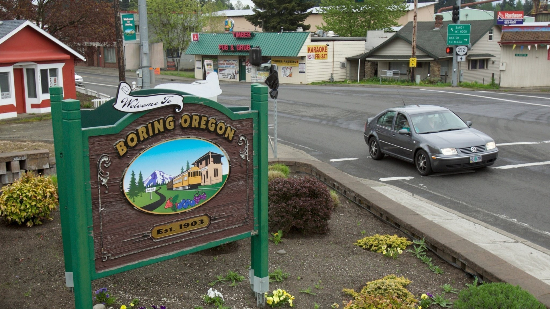 Boring Oregon Sign