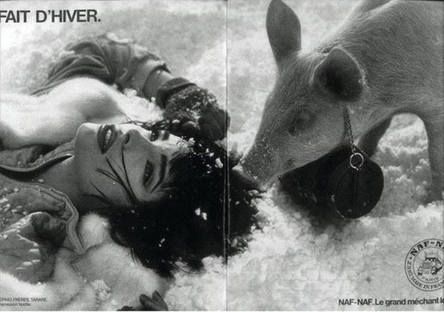 Franck Davidovici, Fait d'hiver, 1985: fotografia per il brand francese Naf-Naf