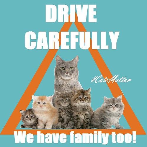 Drive Carefully Inside Car Window Sticker