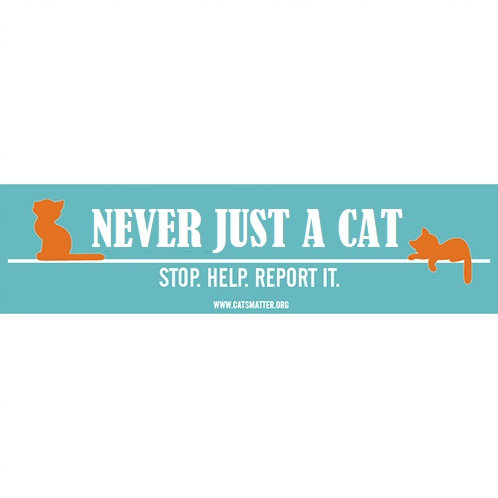 Never Just a Cat Inside Car Window Sticker