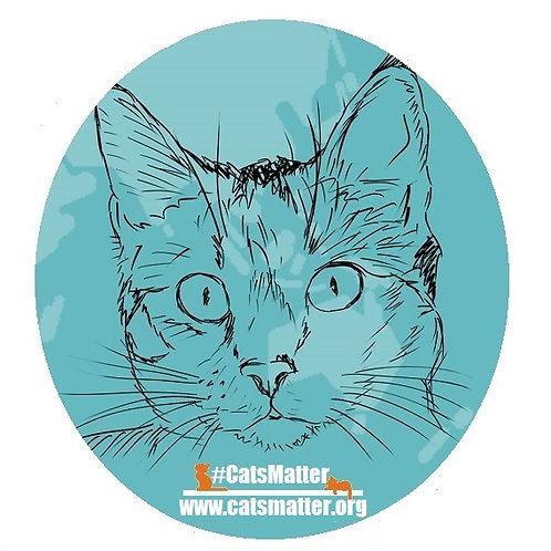 CatsMatter Sketch Car Window Sticker