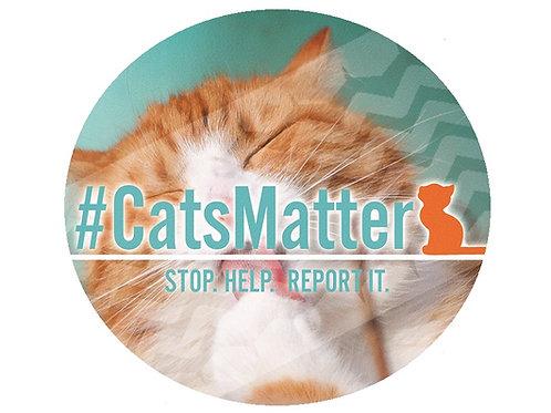 #CatsMatter Round Inside Car Window Sticker