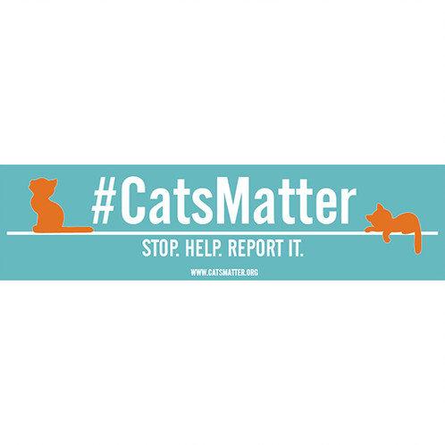 #CatsMatter Inside Car Window Sticker