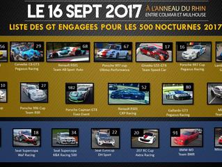LA GRILLE DE DÉPART DES 500 NOCTURNES 2017 !