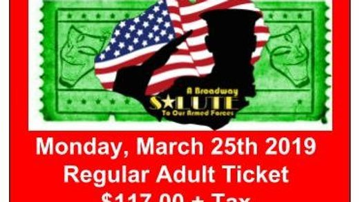 Regular Adult Ticket - Monday, March 25, 2019