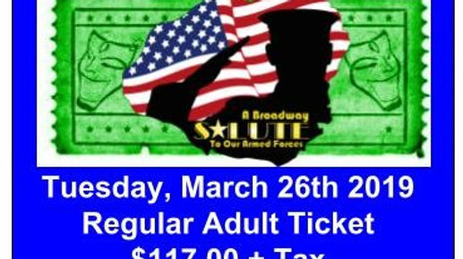 Regular Adult Ticket - Tuesday, March 26, 2019