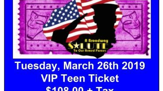 VIP Teen Ticket - Tuesday, March 26, 2019