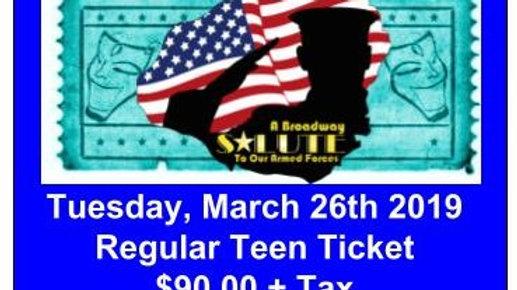 Regular Teen Ticket - Tuesday, March 26, 2019