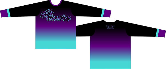 GSG SPORTSWEAR COLOR FADE FULL SUB JERSEY - BLACK/PURPLE/TEAL