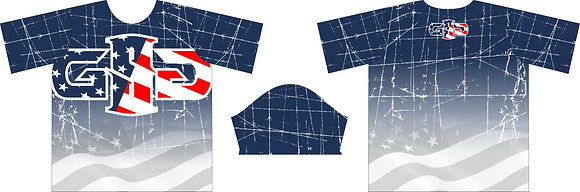 GSG RED WHITE & BLUE FLAG FULL SUB JERSEY