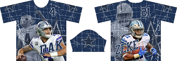 DALLAS COWBOYS DAK N ZEKE NAVY FULL SUB JERSEY