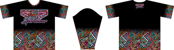 GSG ZIG ZAG PRINT FULL SUB JERSEY - BLACK THROWBACK VERSION