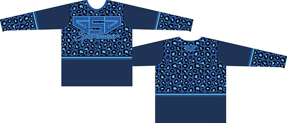 GSG CHEETAH PRINT FULL SUB JERSEY -NAVY/ROYAL/BABY BLUE