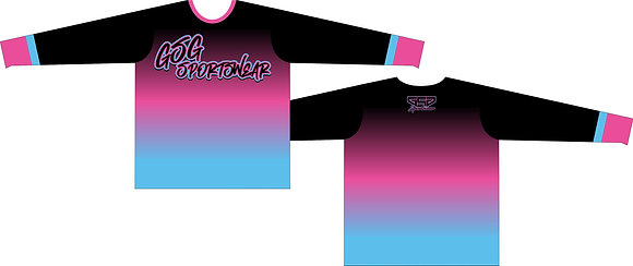 GSG SPORTSWEAR COLOR FADE FULL SUB JERSEY - BLACK/PINK/BABY BLUE