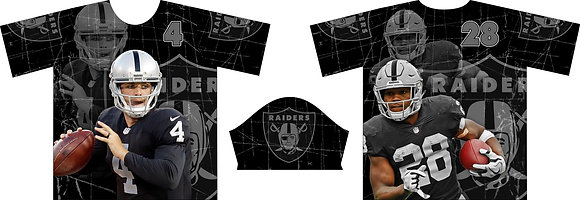 OAKLAND RAIDERS CARR & JACOBS FULL SUB JERSEY