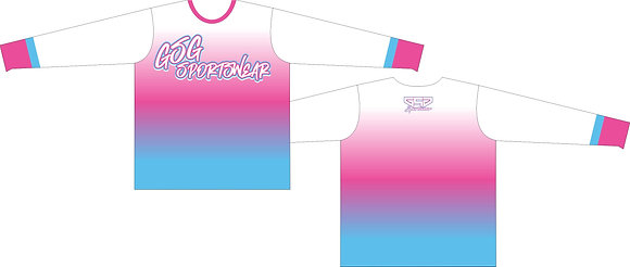 GSG SPORTSWEAR COLOR FADE FULL SUB JERSEY - WHITE/PINK/BABY BLUE