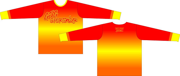 GSG SPORTSWEAR COLOR FADE FULL SUB JERSEY - RED/YELLOW/ORANGE