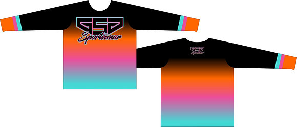 GSG SPORTSWEAR COLOR FADE FULL SUB JERSEY - SPURS BLACK THROWBACK-GSG LOGO