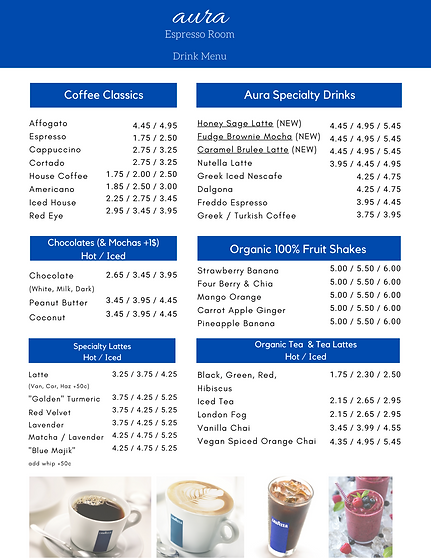 Aura Espresso Room Drinks menu.png
