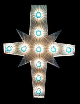 Metal light up cross