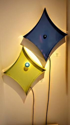 Diamond with light wall art