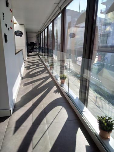 Sunset in the Rocket Hub coworking corridors