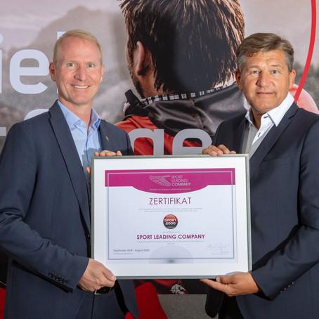 SPORT 2000 als Sport Leading Company zertifiziert