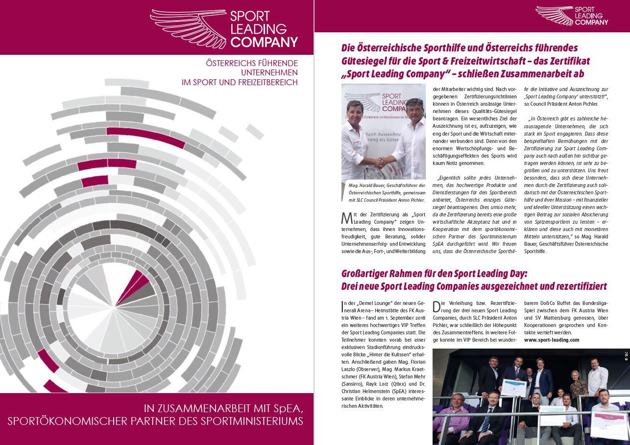 Sport Business Magazin - Herbstausgabe 2018