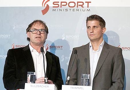Trimmel und Sulzbacher Bundes-Sport-Geschäftsführer