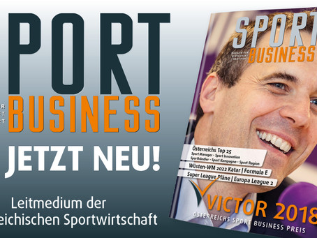 Hochwertige Lektüre für die kalten Wintertage: Das neue Sport Business Magazin ist da