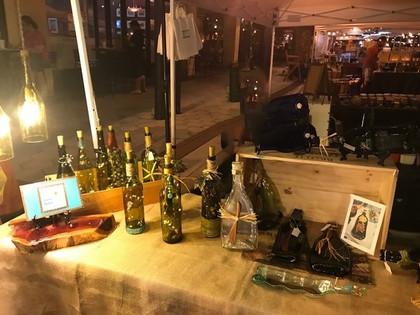 Wine Bottles Slumped