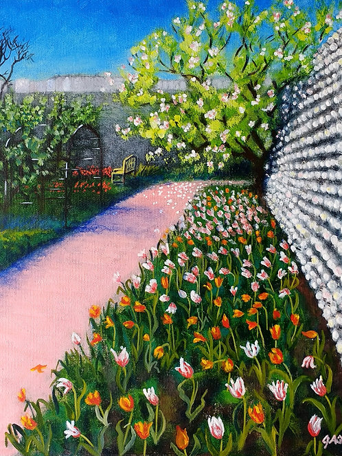 Spring in the Walled Garden paper print