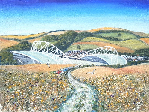 Seagulls at the Amex canvas print