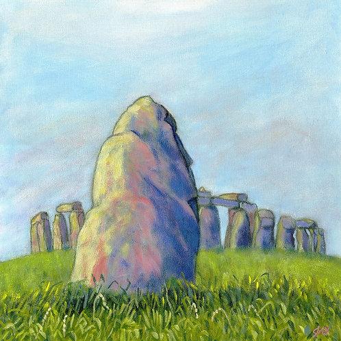 Stonehenge from the Heel Stone Fine Art Print