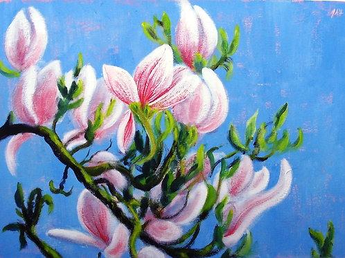 Magnolia Blossom paper print