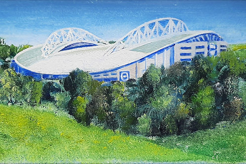 The Amex Stadium from Stanmer Park paper print