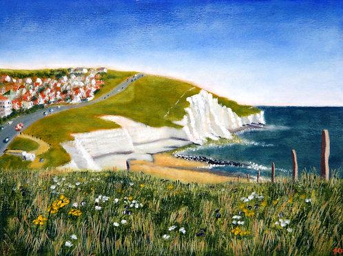 The Cliffs at Saltdean canvas print
