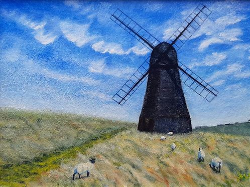 Shaun and the Windmill canvas print