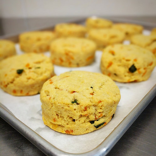Gluten-free Cheddar Scallion Biscuits