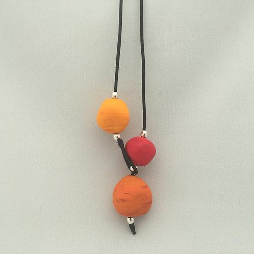 Orange Shoreline Necklace