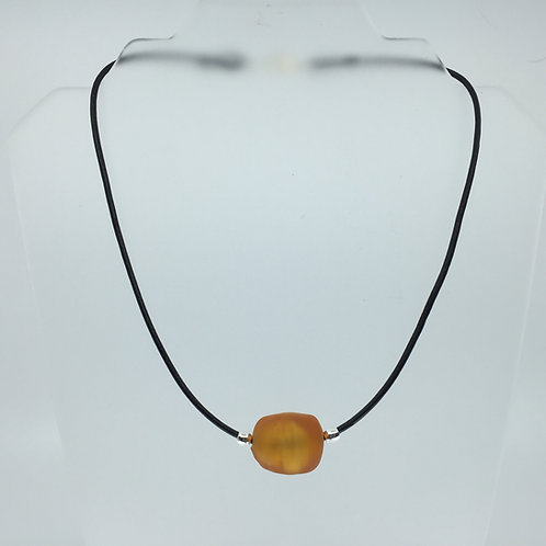 Amber Ice Cube Necklace