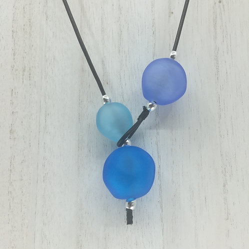 Shades of Blue Shoreline Necklace
