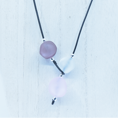 Pink and Purple Shoreline Necklace