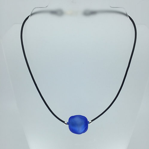 Royal Blue Ice Cube Necklace
