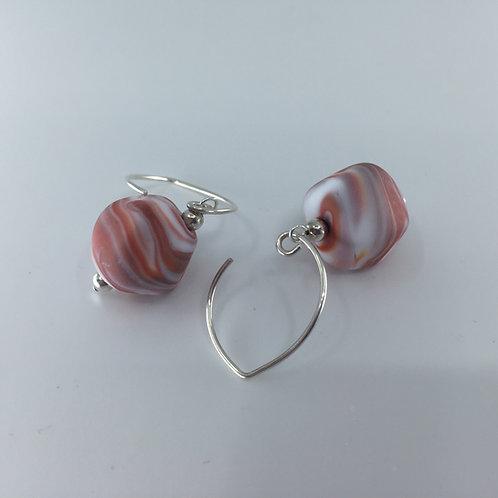 Sandstone Swirl Pebble Earrings