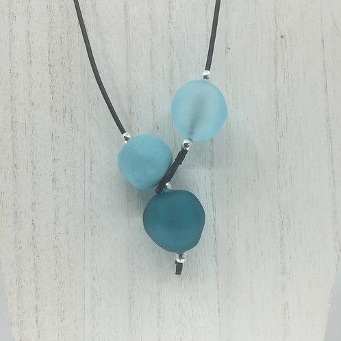 Aqua/Teal Shoreline Necklace