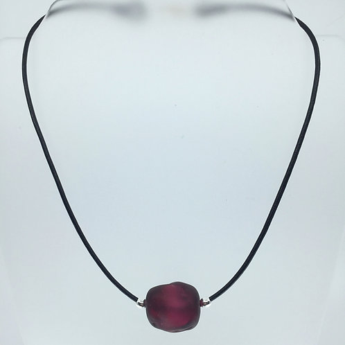 Cranberry Ice Cube Necklace